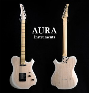 Hand made Guitar Aura Baritone Winter